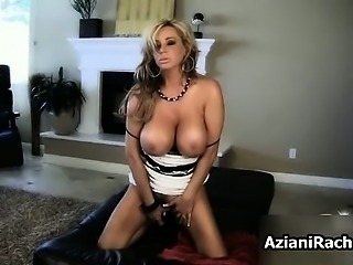 Busty blonde babe goes crazy rubbing