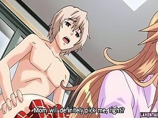 Slutty hentai milf in schoolgirl uniform