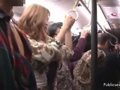 Public Japanese sex in a packed bus