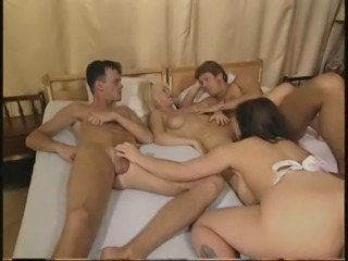 Sweet moms & man with guy have a wonderful sex!