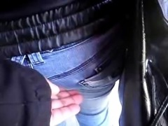 GROPED ENCOXADA ASS IN BUS STOP