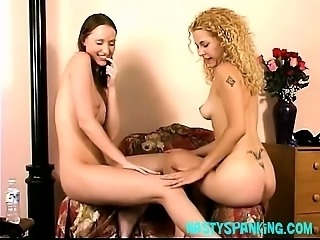 Hot Lesbian Ass Spanked