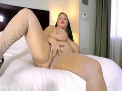 Sexy MILF BBW Samantha 38 Dresses Up as Nun Plays with Pussy