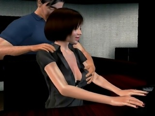 My Wife, Her Boss and a Camera. animation 3dsexvilla2 office