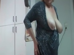 Big titted mature hottie fucking herself on the desk free