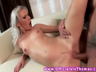 Bea Stiel aggressively drooling on cock then gets drilled