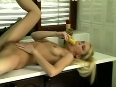 Milf vegetable masturbation