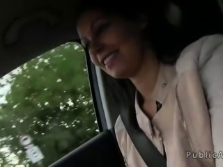 Hungarian gril fucked in car for money