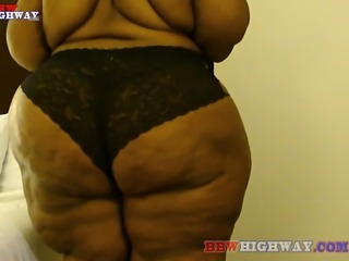 This lovely ssbbw has the biggest butt and widest hips we've ever seen.She...