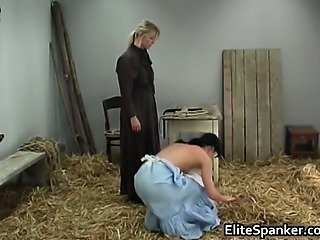 Old school BDSM in the barn