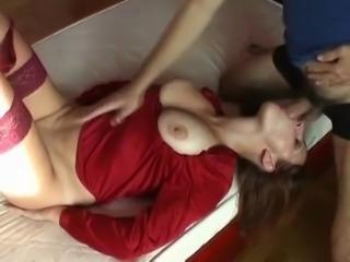 Busty redhead doggy fucked