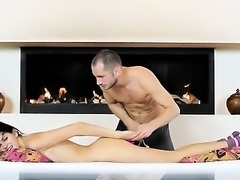 Russian beauty fucked by bang machine