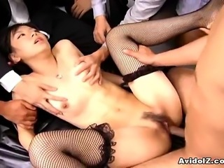 Hot and sexy Japanese babe deeply fucked at office by her co-worker. This...