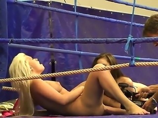 Bibi Noel is drilling Amirah Adaras tight pussy with dildo during their sexy...