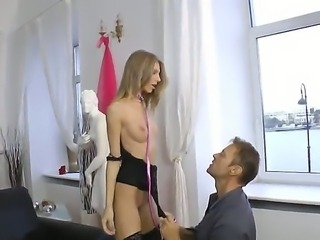 Dominant hottie Abby H knows how to rule men  even such manly men as Rocco Siffredi! Watch her trample him and make him eat her ass before her gets to finger it.
