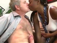 Chocolate skinned sexdoll Jessica Grabbit fucking hard with her white stepdaddy