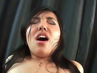 Young and petite Layla C is getting her hairy pussy pounded till awfully sore and sated by hot Baz