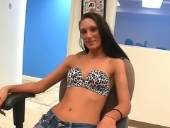 Plain goodie-goodie talking wont take long here at this porn audition. The...