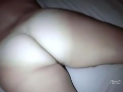 Laying naked on the bed, her husbands friend decides to come get him some