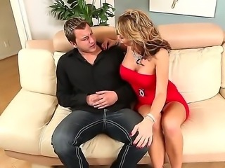 Fucking amazing and glamourous atmosphere is fucking perfect for hardcore sex video like this one! Nikki Sexx dressed in red being screwed on the vintage sofa like a fucking whore!