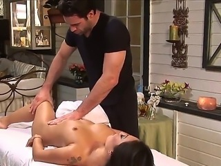 Asa Akira is famous by her massage techniques, but today she got amazing massage by Charles Dera