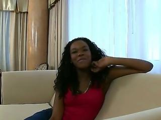 She is a beautiful ebony babe named Tianna Love that loves sucking dicks