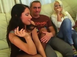 Ally, Melika and Raffaella enjoy in crashing a party and having fun with guys...