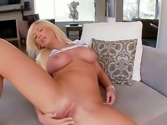 Beautiful chick with amazing boobies and wonderful ass Tasha Reign is rubbing...