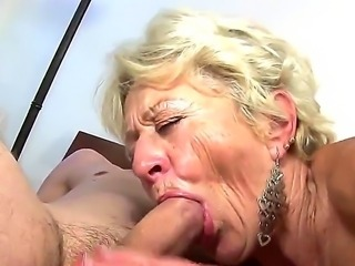 Mature blonde slut Malya enjoys younger stud in nasty hardcore sex session