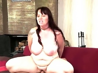 Hot and extremely fat old bbw Melany enjoys cock sucking and getting her...