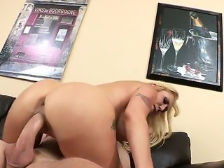Blonde Alana Evans is getting some comfort drilling from Jordan Ash after she...