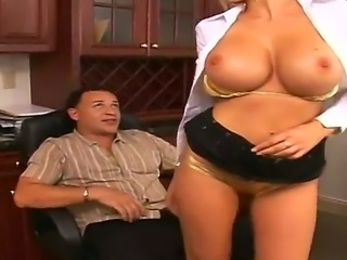 Lusty boss Puma Swede is luring Sergio into having hardcore sex with lusty blowjob and titty fuck