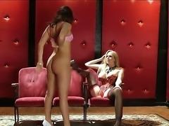 Leggy brunette Gracie Glam in white