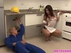 Kitchen mutual fuck