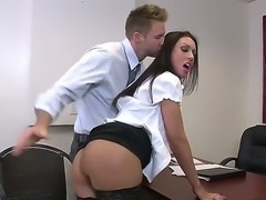 It is such a good thing when you are working with bootylicious office whore...