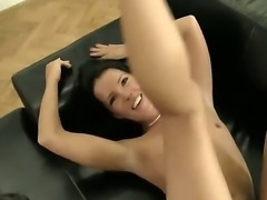 Eager to get fucked, little brunette Jane M is working on Rocco Siffredis...