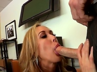 Brandi Love is mean and bitchy lady-boss. She recieves a negative evaluation...