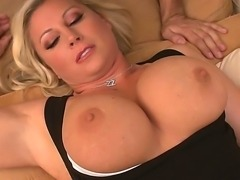 This horny MILF with amazing round boobs Devon Lee invited this stud to...