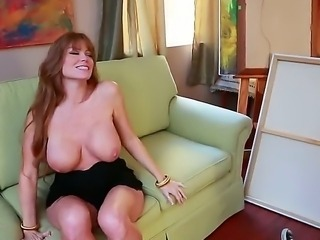 Voluptuous Darla Crane remained alone because her husband went in the business trip, but Darla doesnt want to get bored, so she called hot guy with big dick Johnny Castle.