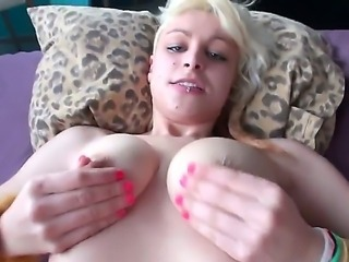 A white sexy slut bending over ready to receive a horny spawn hammer inside her wet cum pit.