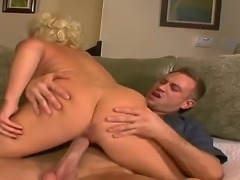 Bill Bailey gets seduced by a superb blonde cougar JoAnna Storm wich amazes him