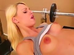Blonde Erica Fontes pleases hunk Jordan Ash with amazing hardcore fuck scene
