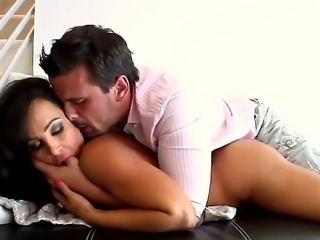 Yummy woman Lisa Ann in the passionate fucking scene with her lover Manuel Ferrara