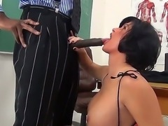 Big dicked black teacher Sean Michaels remains alone with his student chick...