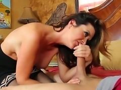 Raquel Devine pelases her deires by sucking and fucking hot male Xander Corvus