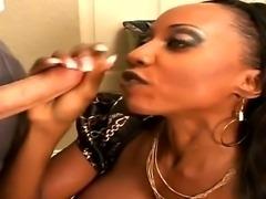 Wonderful girl with amazing big boobies Diamond Jackson is being nicely...