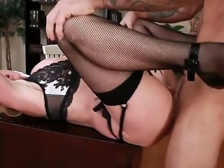 Taylor Wane is fond of young tasty cocks and this time she is having fun with her favorite student, Alan. Just take a look how she is posing for him in sexy lingerie and making a blowjob
