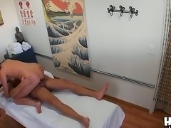 Asian Tina Lee with long black hair adores big cocks and today she makes hot blowjob to her client who comes to spa saloon to spend his free time and relax! Enjoy!