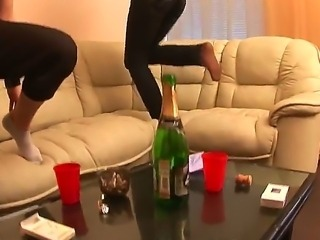 Crazy amateur party with naughty friends named Alma, Colette, Daisy, Gia, Jewel