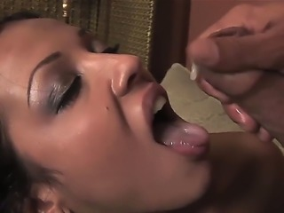 The amazing deep throat blowjob by experienced pornstar Maya Gates. She swallows the gigantic erected dick and then gets the great portion of fresh sperm. Enjoy this POV oral scene